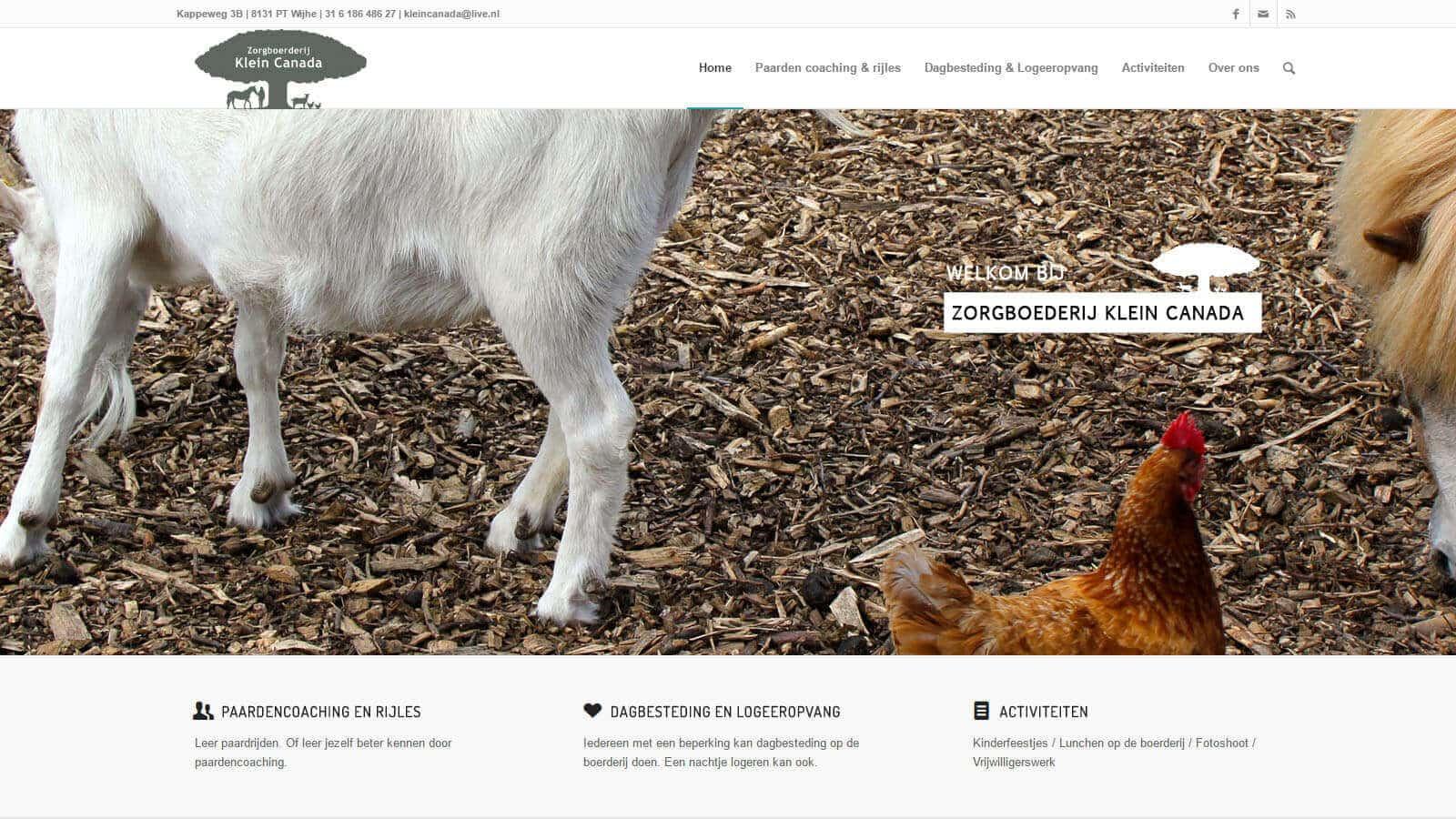 zorgboerderij klein canada website  - zorgboerderij - Websites